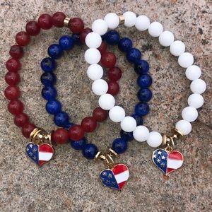 Jewelry - 🇺🇸Fourth Of July Flag Charm Bracelet 🇺🇸